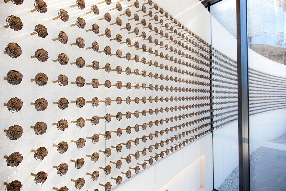 Creative metalwork by Di Emme Creative Solutions - brass poppy flower wall