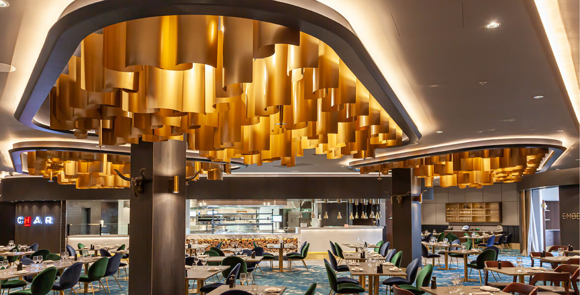 Custom metal work shines at CHAR restaurant