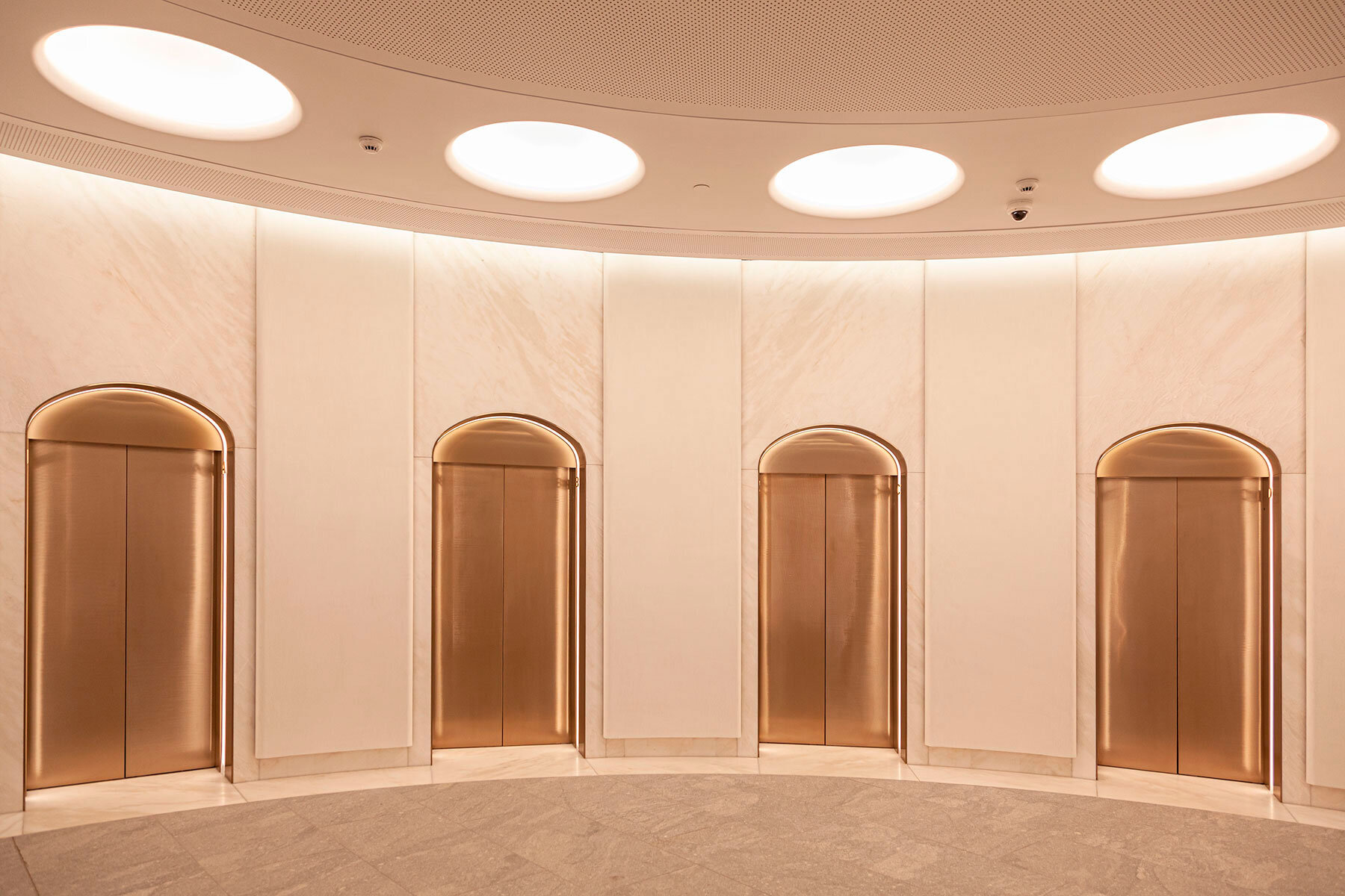 Painted Finish Elevates Lobby Space at 388 George St