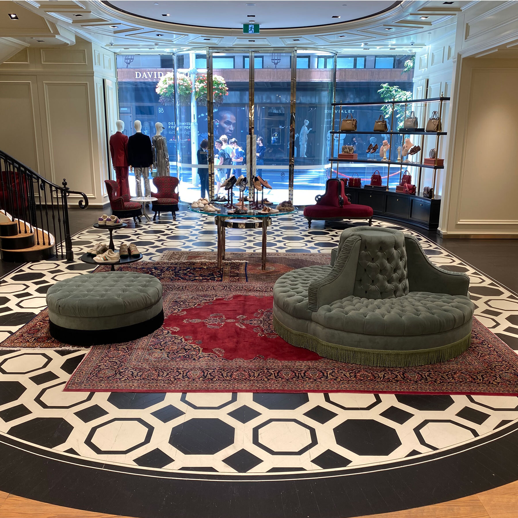 Opulent Painted Parquet Floors in Gucci Flagship Store