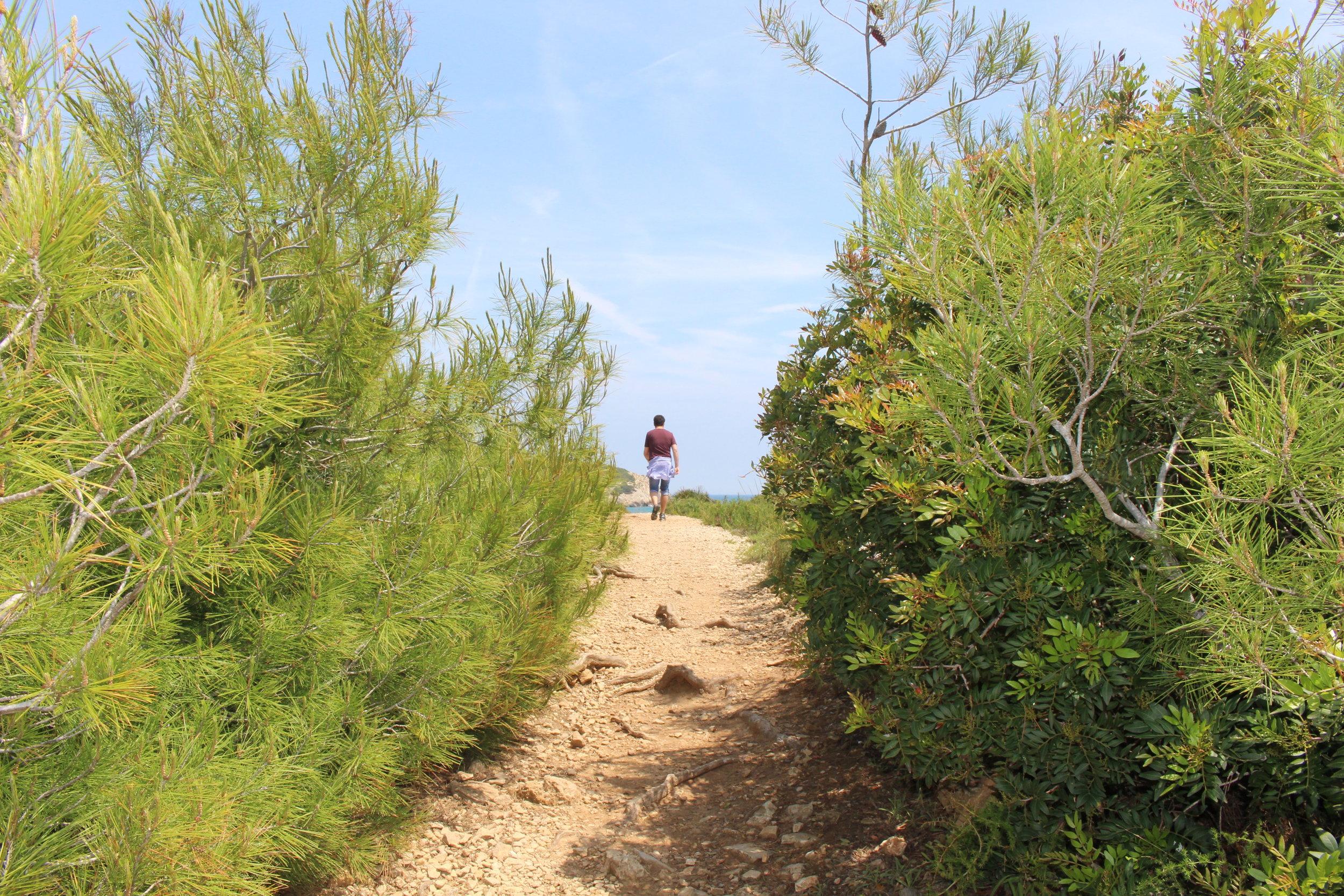Wonderful Hiking along the coast in Catalunya