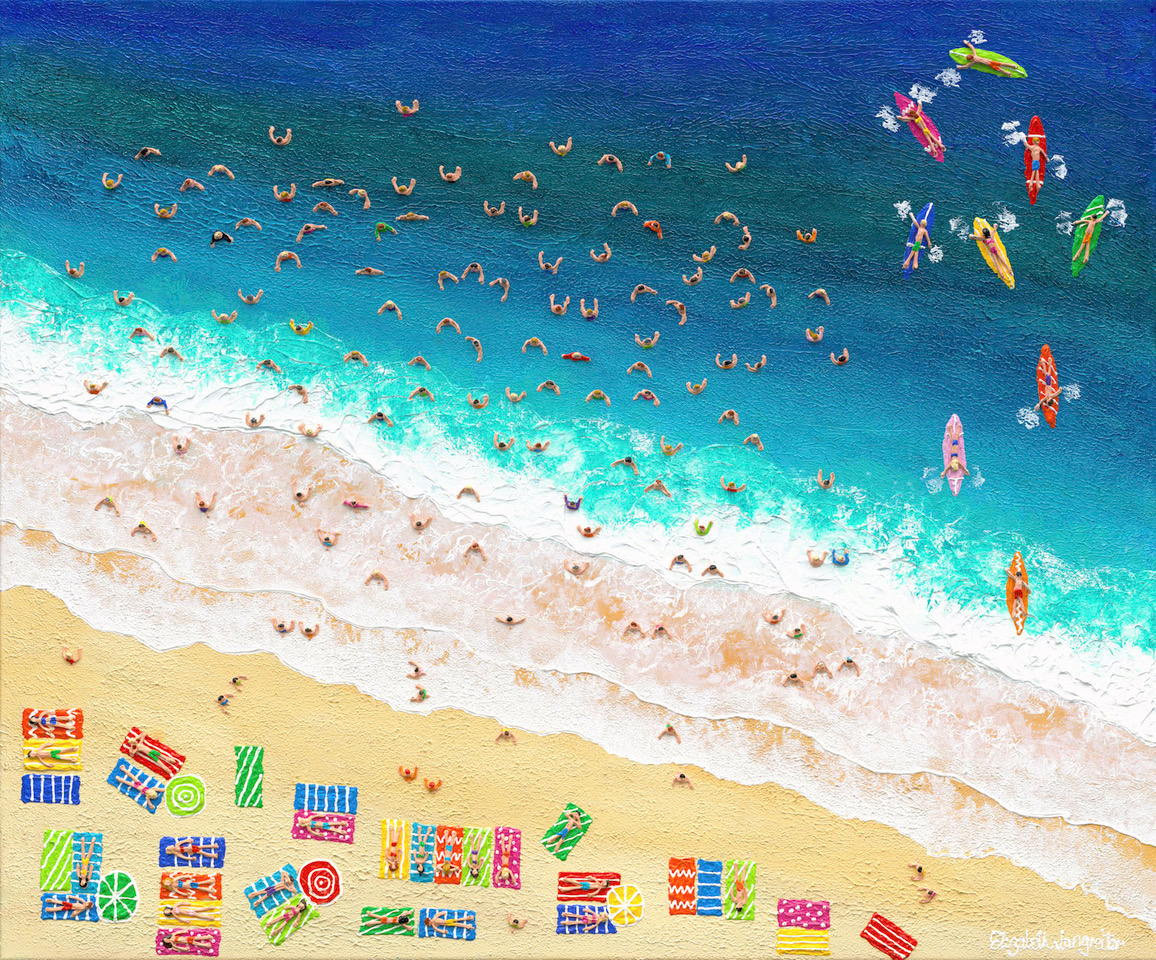 "Order online! - New artwork is being added regularly to Sydney Pop Up Gallery online. All our featured artists from Hunters Hill and Mosman Pop Up galleries are available, like Elizabeth Langreiter's fabulous ""Weekend in the Sun""."