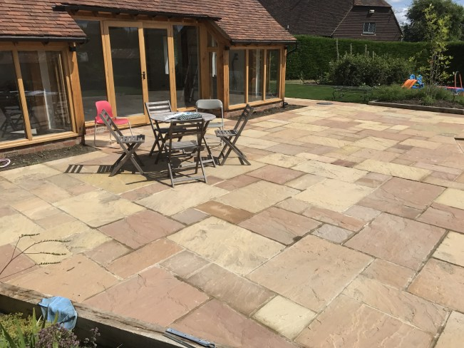 Indian Sandstone Paving -   Click for colour choices, pricing and more information.