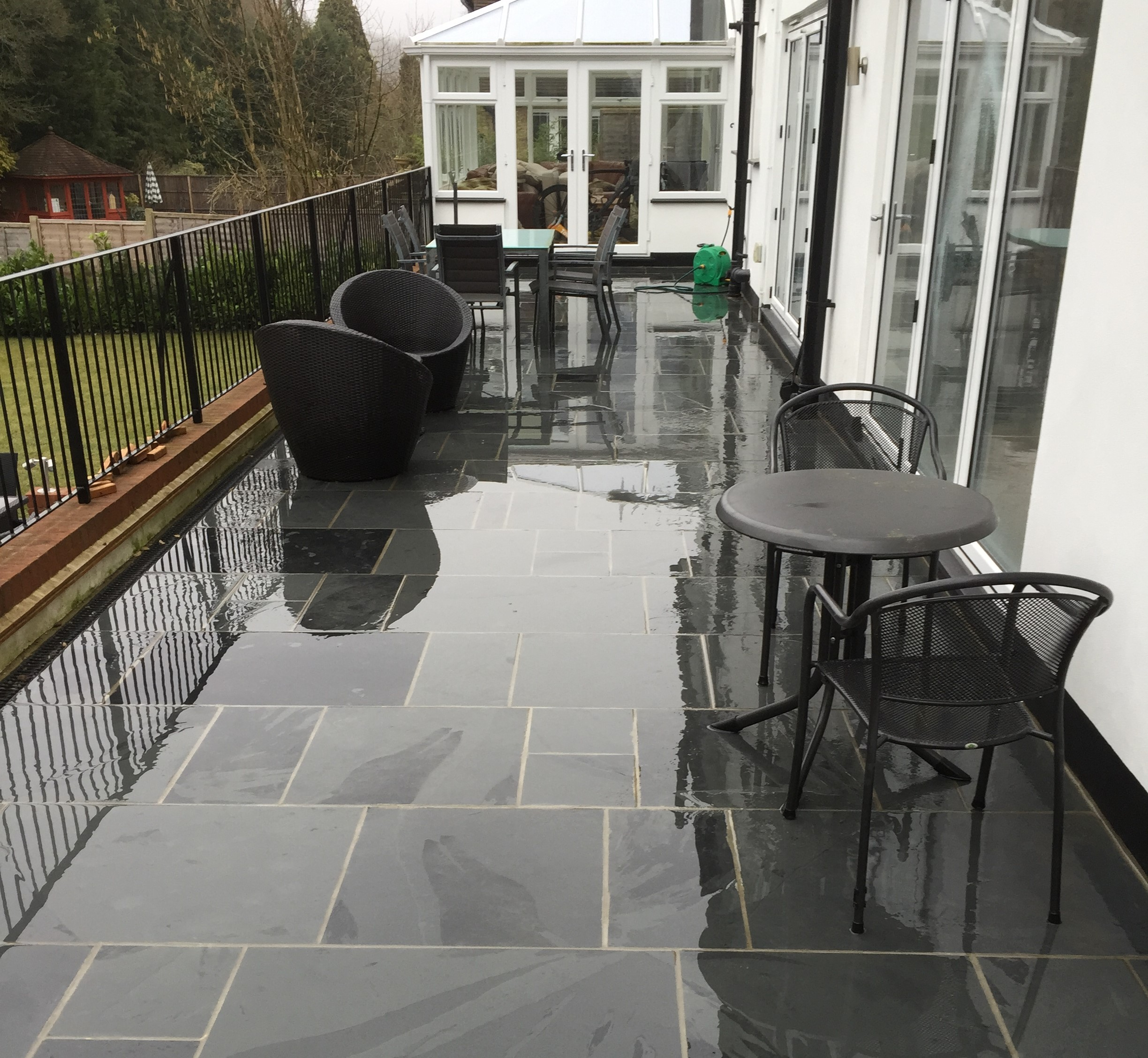 Brazillian Black Slate Paving -    Click for pricing and more information.