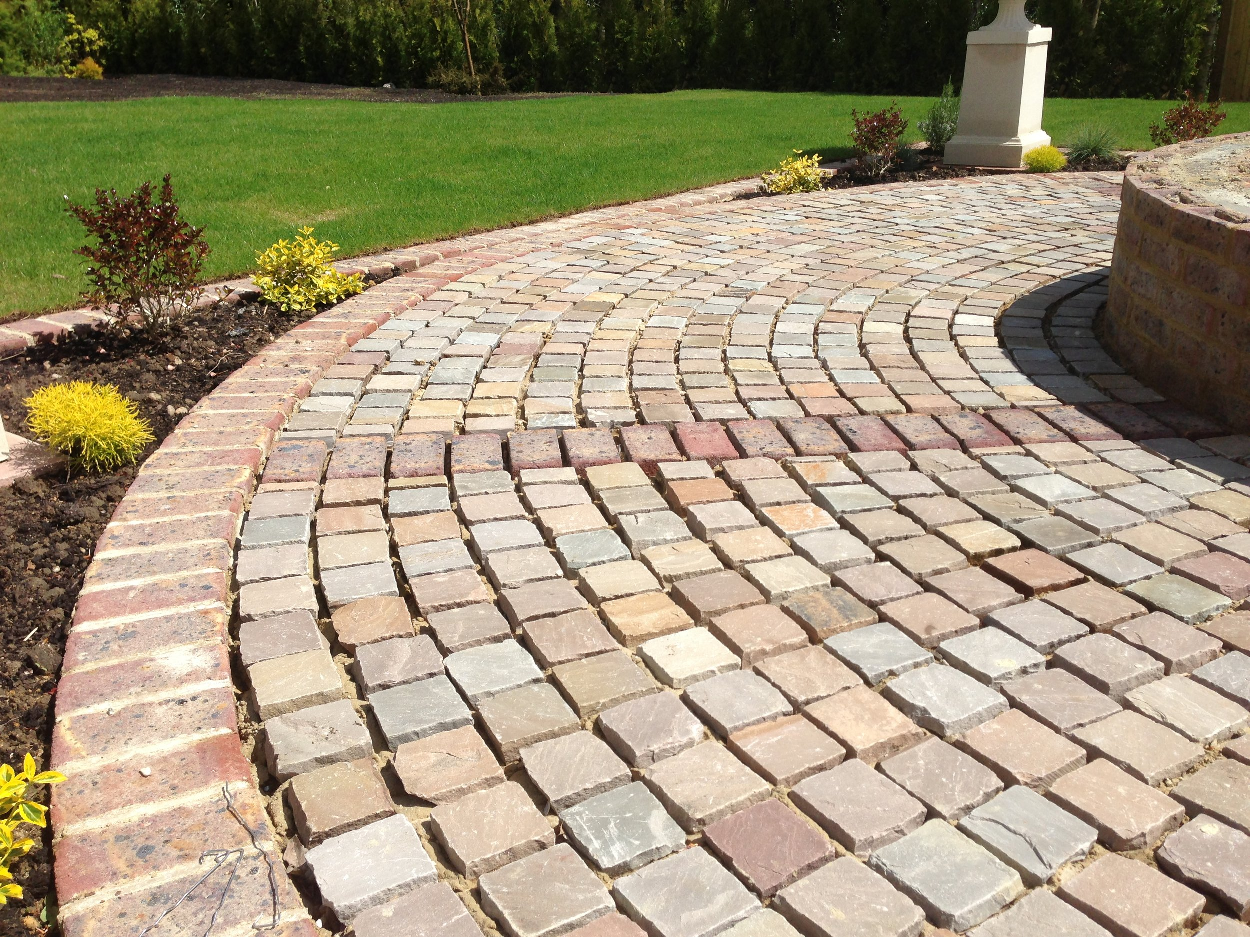Indian Sandstone Cobbles -   Click for colour choices, pricing and more information.