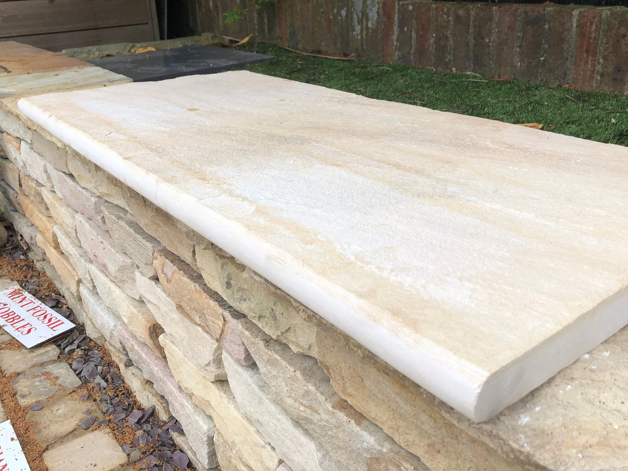 Indian Sandstone Bullnose Coping -   Click for colour choices, pricing and more information.