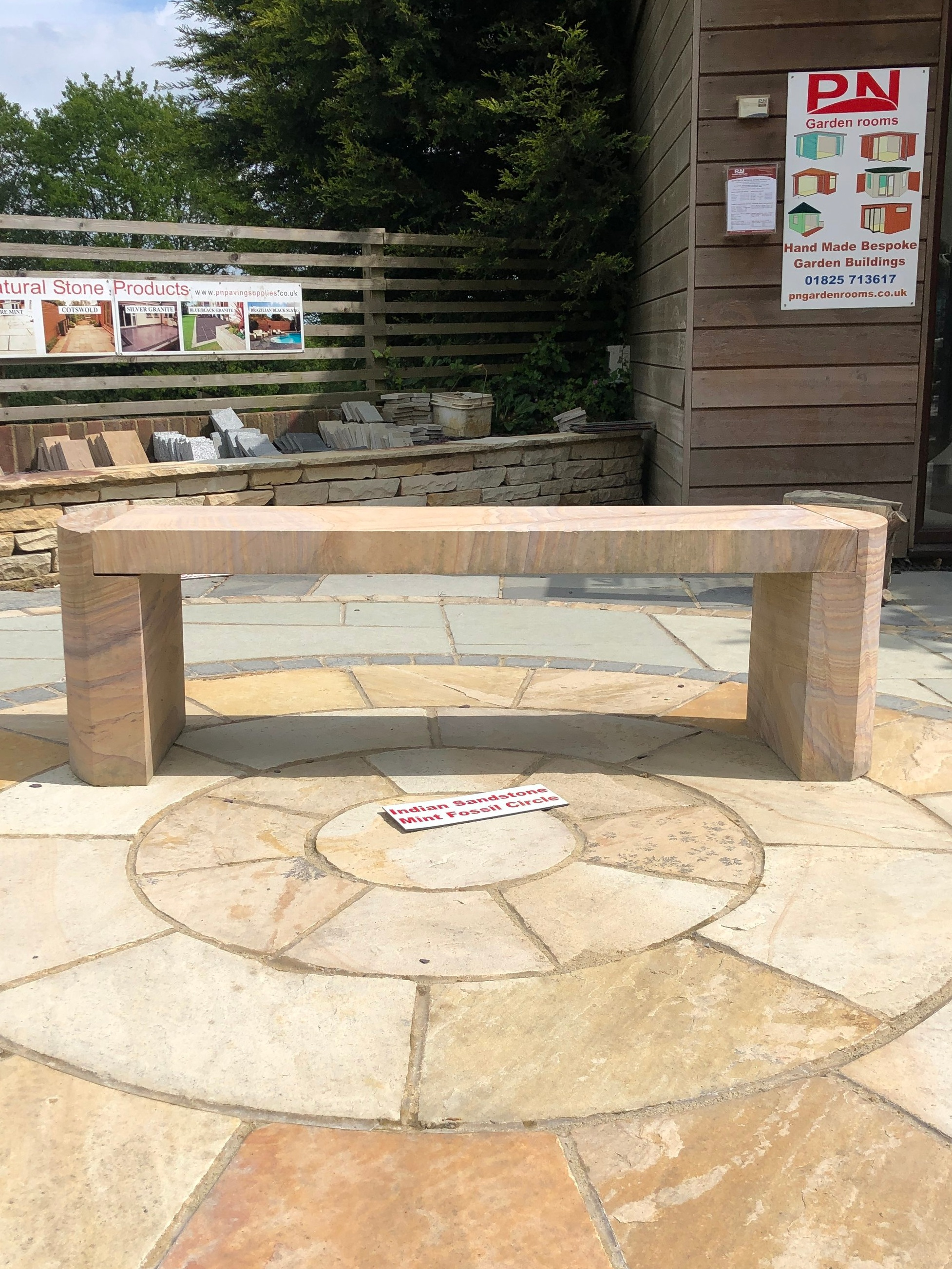 Rainbow Indian Sandstone Bench -   Click for more information and pricing.