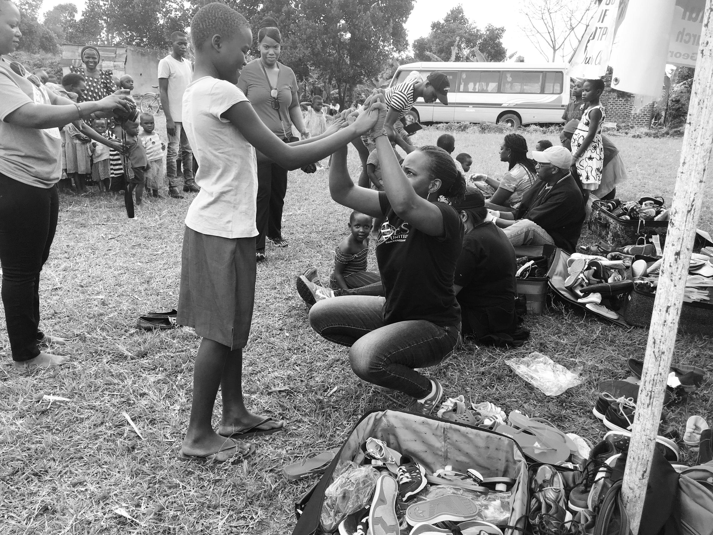 Cherissa Jackson, during a 2017 humanitarian trip to Uganda.
