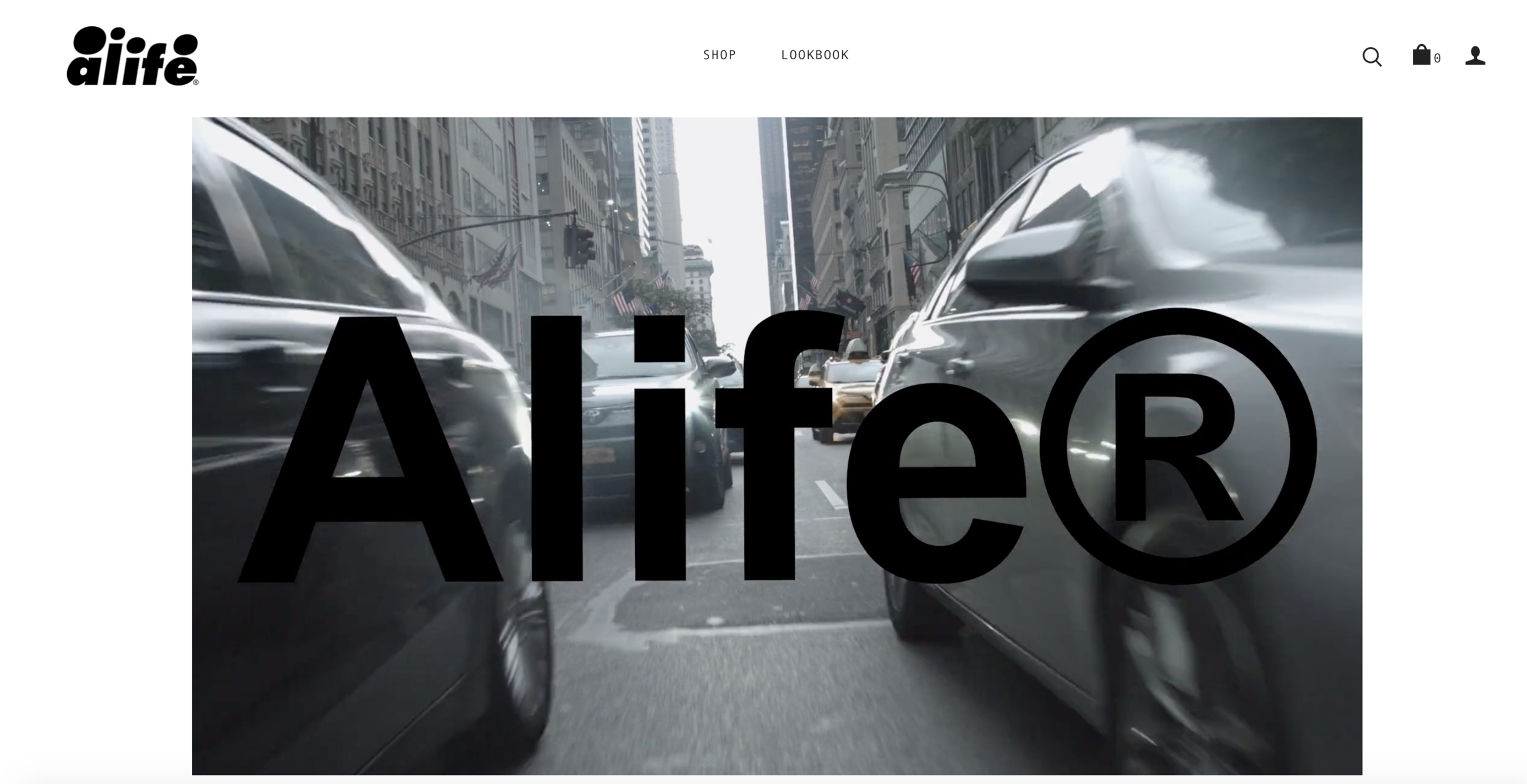 Alife Home Landing Page