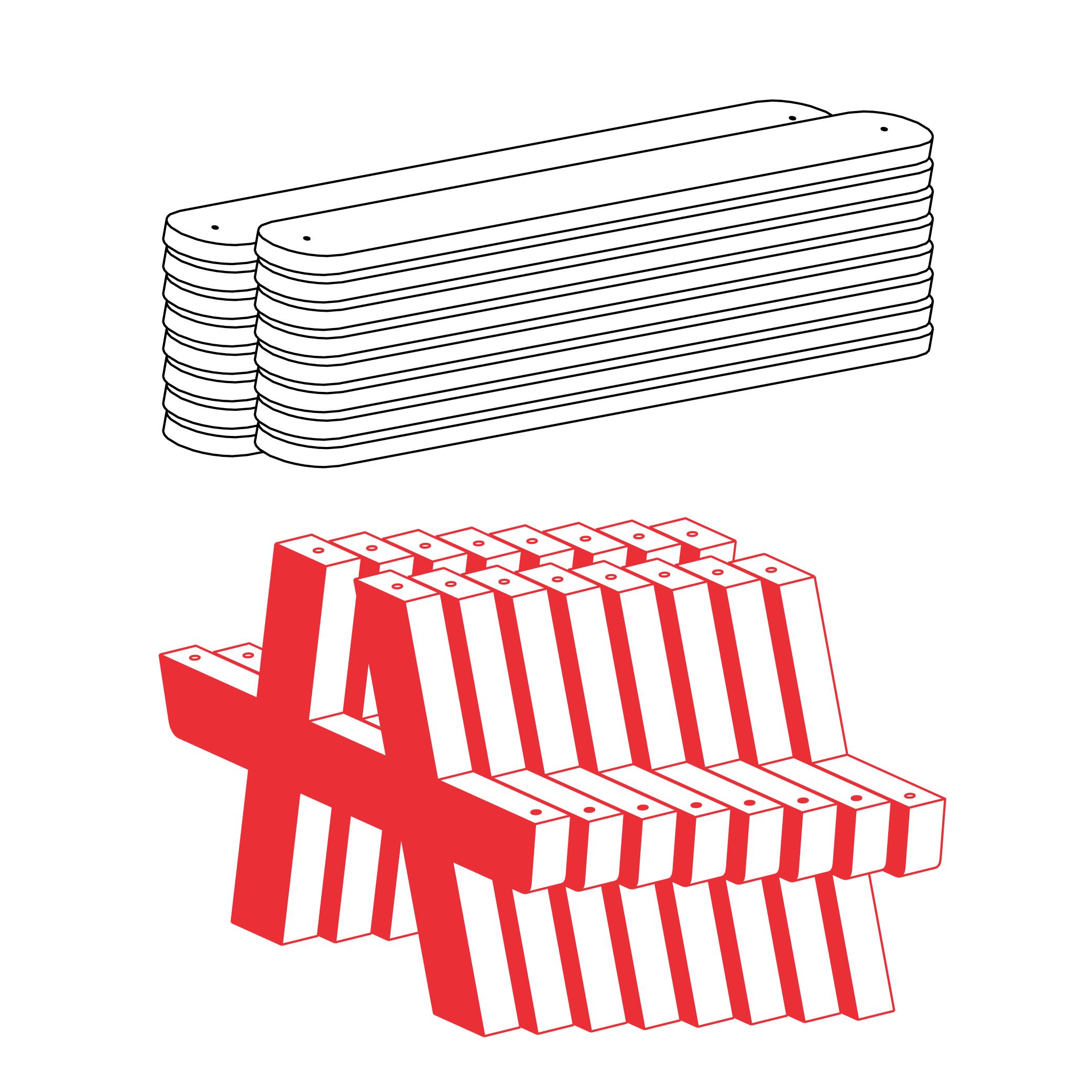 Facile à stocker - Avec une surface démontée de 1,4m3 pour 10 tables,Canteen se remise facilement en attendant son prochain usage.