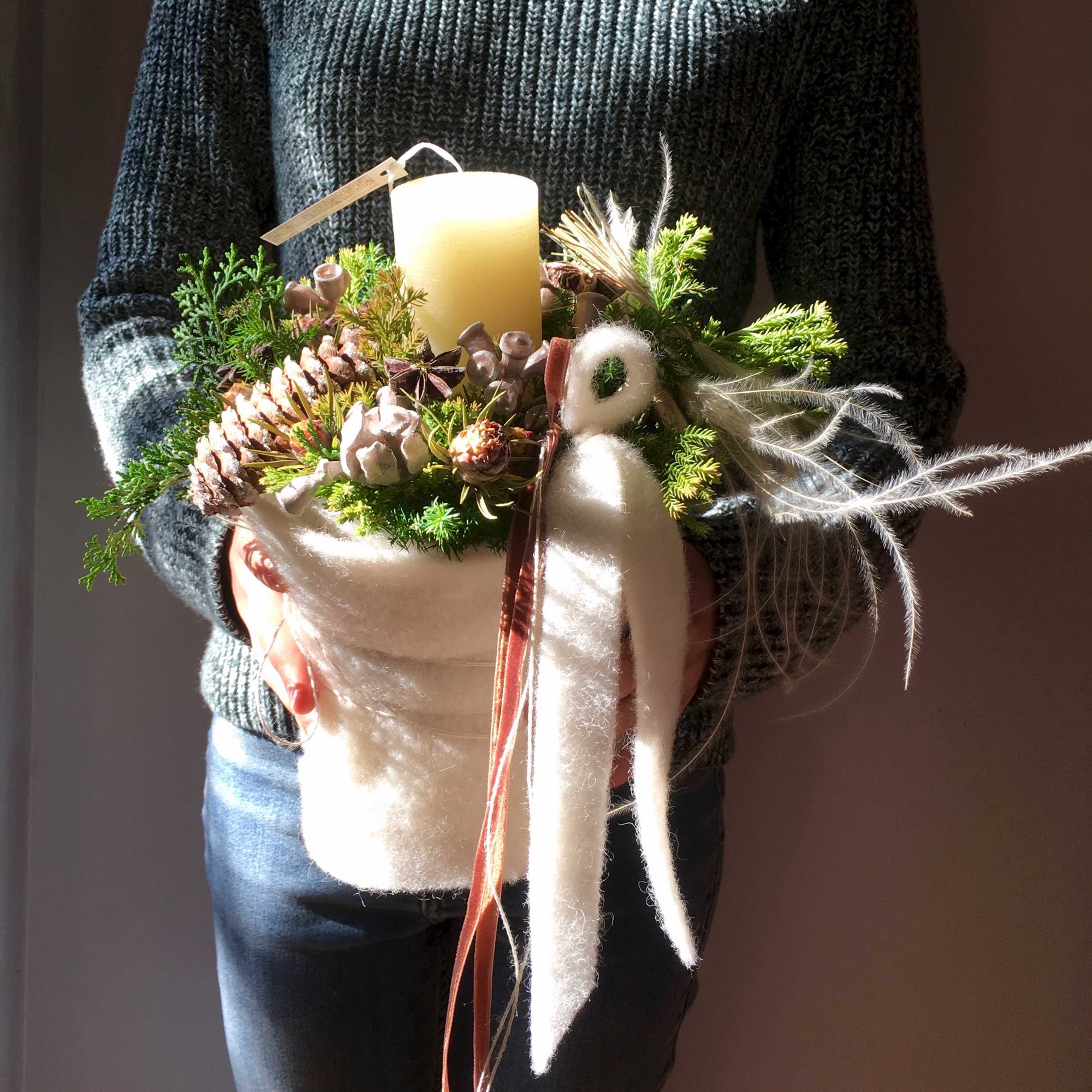 White Wool arrangement (image pic)