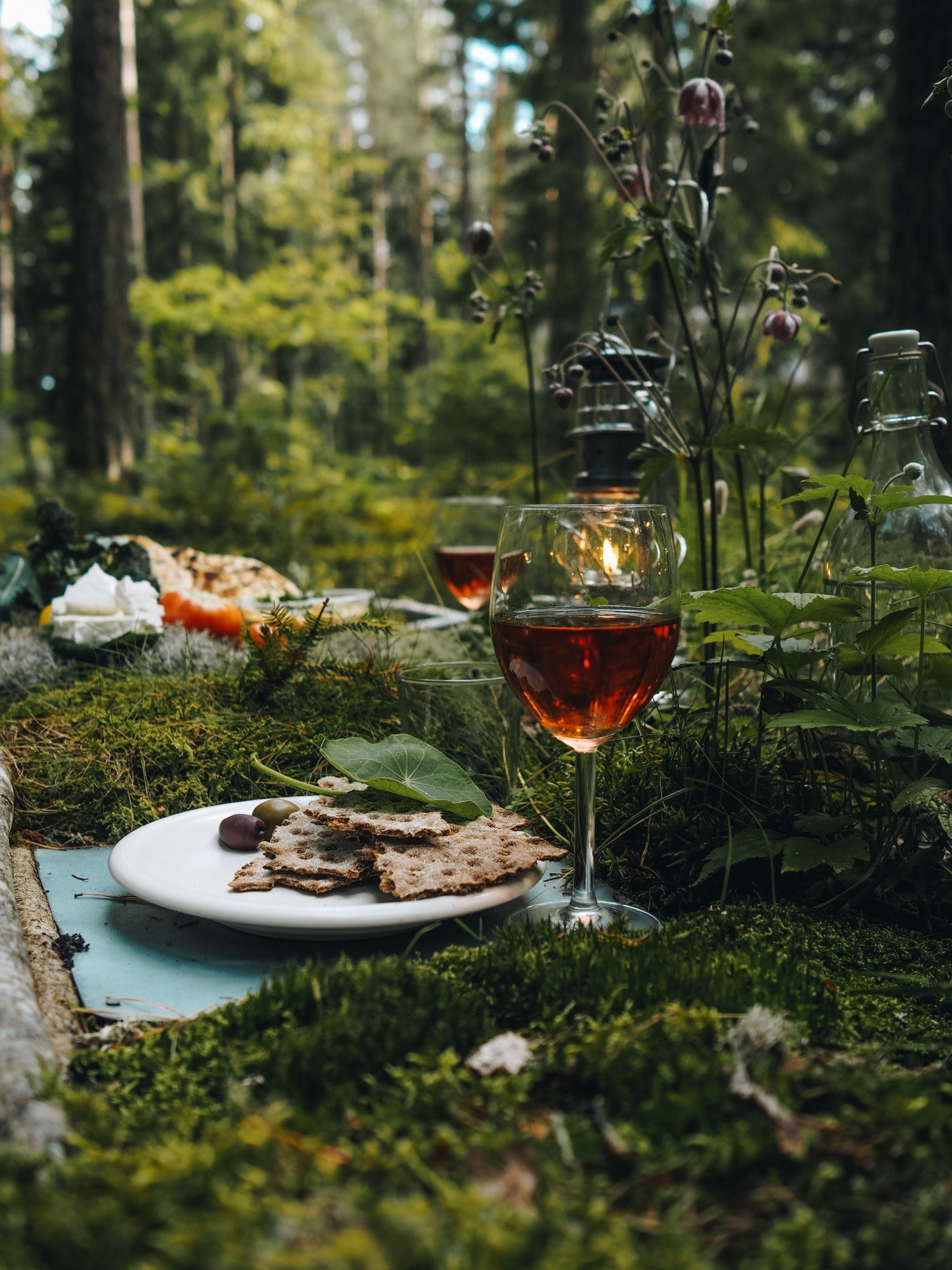 The  Komorebi  table up in the forests in Sweden is maybe my biggest solo project so far. Fresh moss outdoors is the best table decoration ever and in this living project it stays there hopefully forever.  Picture by  Copenhagenwilderness .