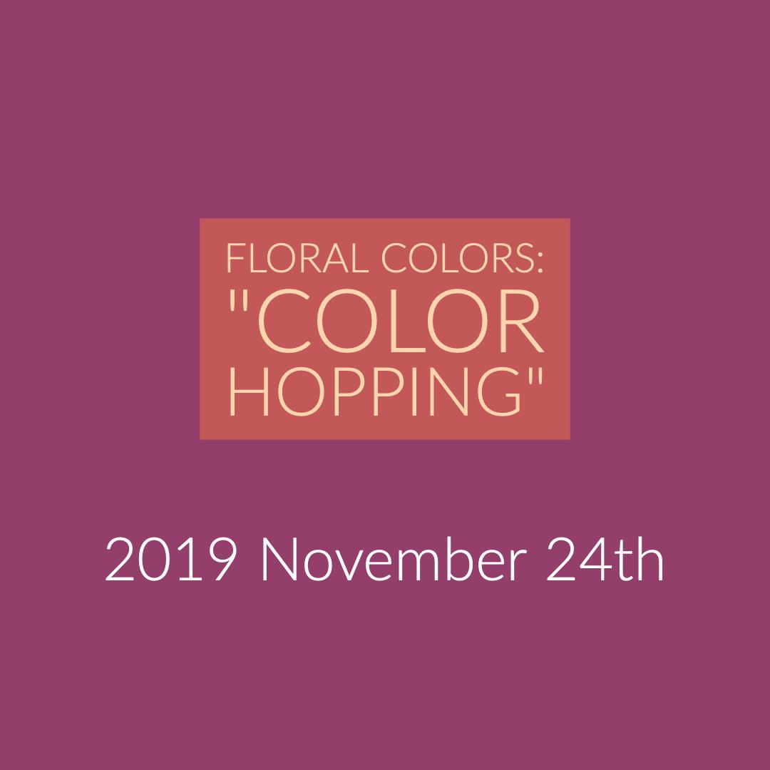 """24th of November in Chigasaki: """"Color Hopping"""""""