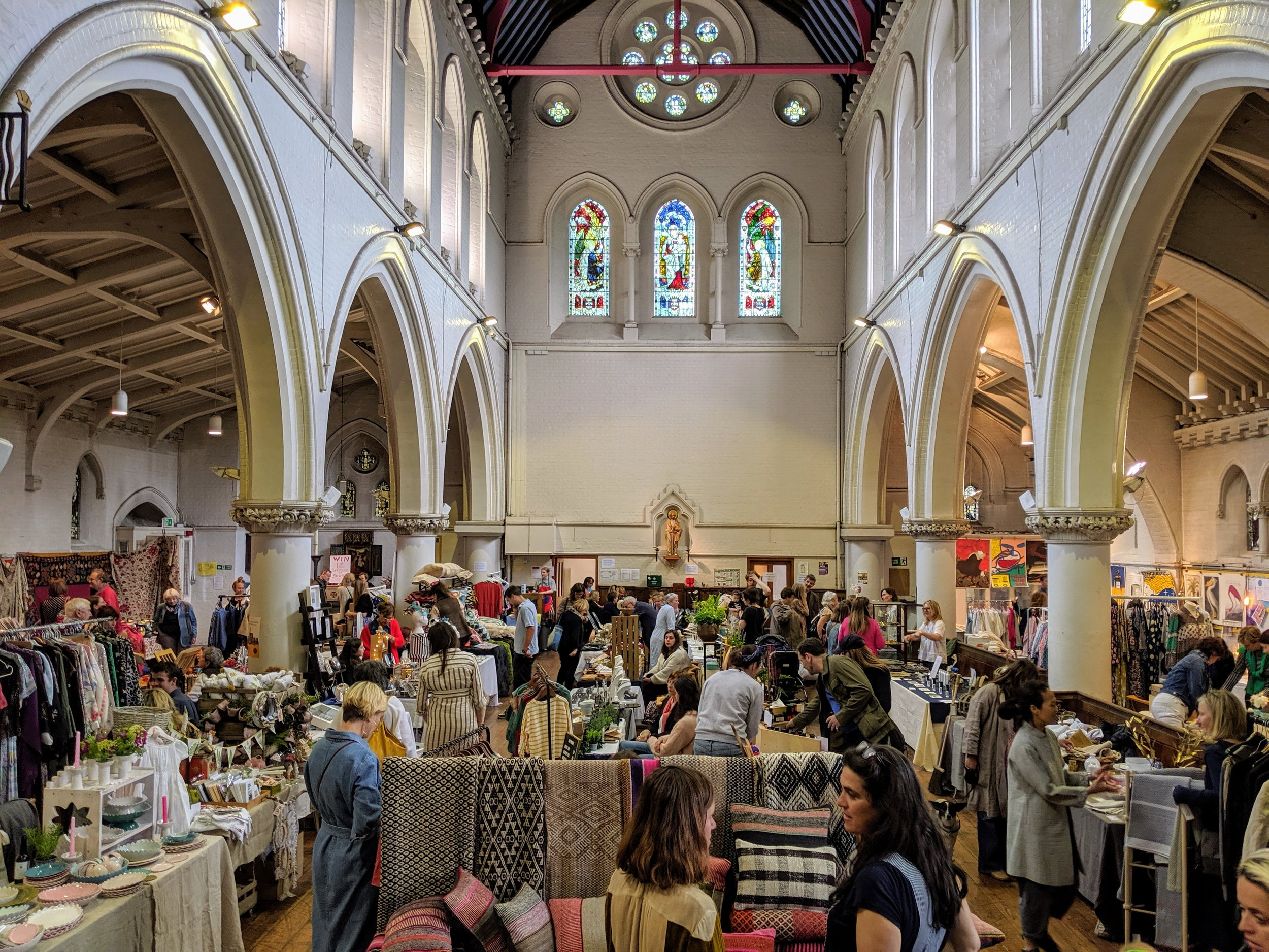 Primrose HillDesigner Fair - Spring Edition 15.06.2019 / December 2019This is the ever popular annual event at St Mary's, where you can come along to browse a great selection of quality fashion and gift items. Grab a last min gifts for christmas or just treat yourself! We also set up a fantastic cafe where you can have lunch, cake, hot drinks and even a glass of mulled wine.