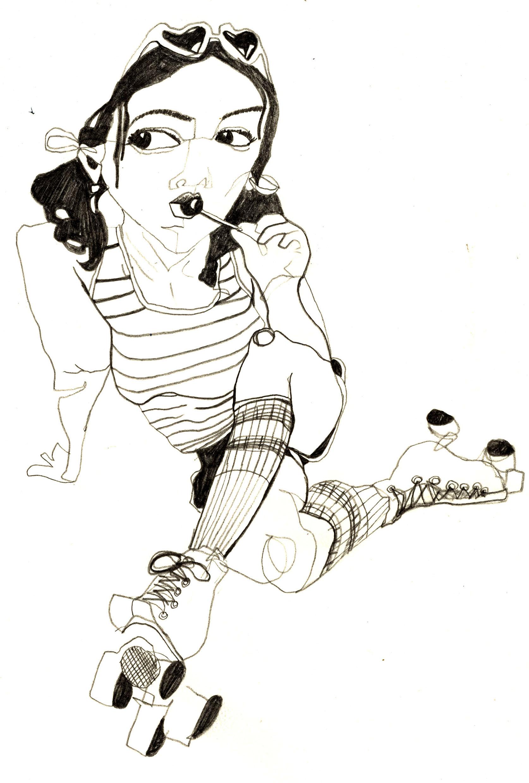Whiten_disco roller skate lollipop_illustration.jpg