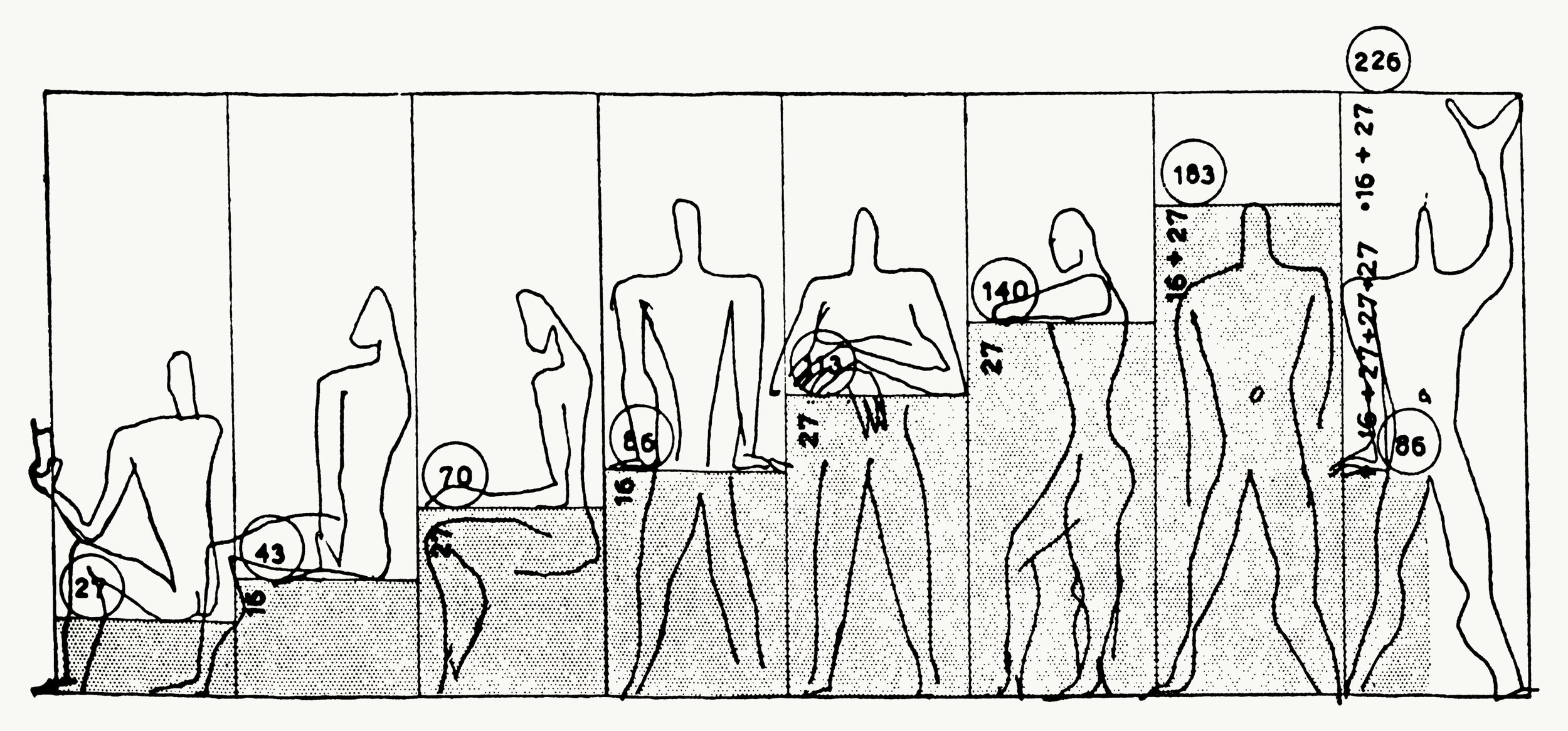 'The Double Unit' derives from Le Corbusier's theory of mathematical proportions in the human body which can be used to improve the appearance and function of architecture and space. Our approach matches the human figure as imagined by Le Corbusier – its feet planted firmly on the ground, centred and proportioned, with its hand pointing to the sky.