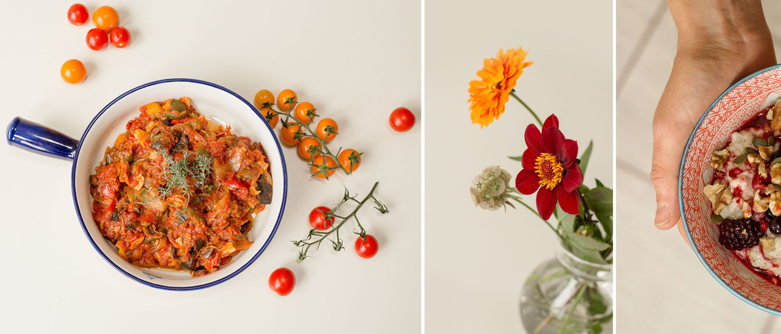 branding photography aberdeen, food and flowers
