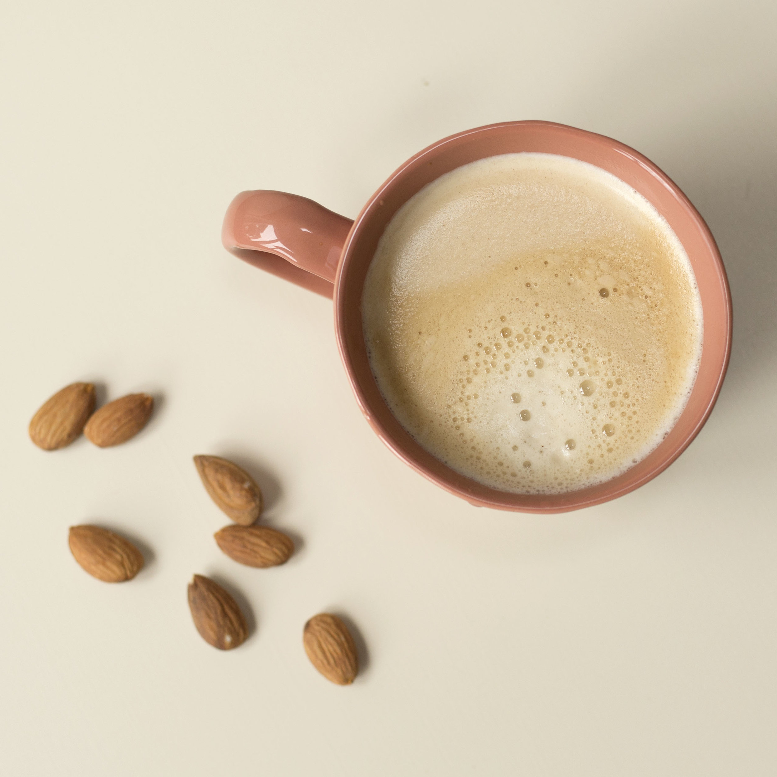 personal branding photography Scotland, coffee, almonds