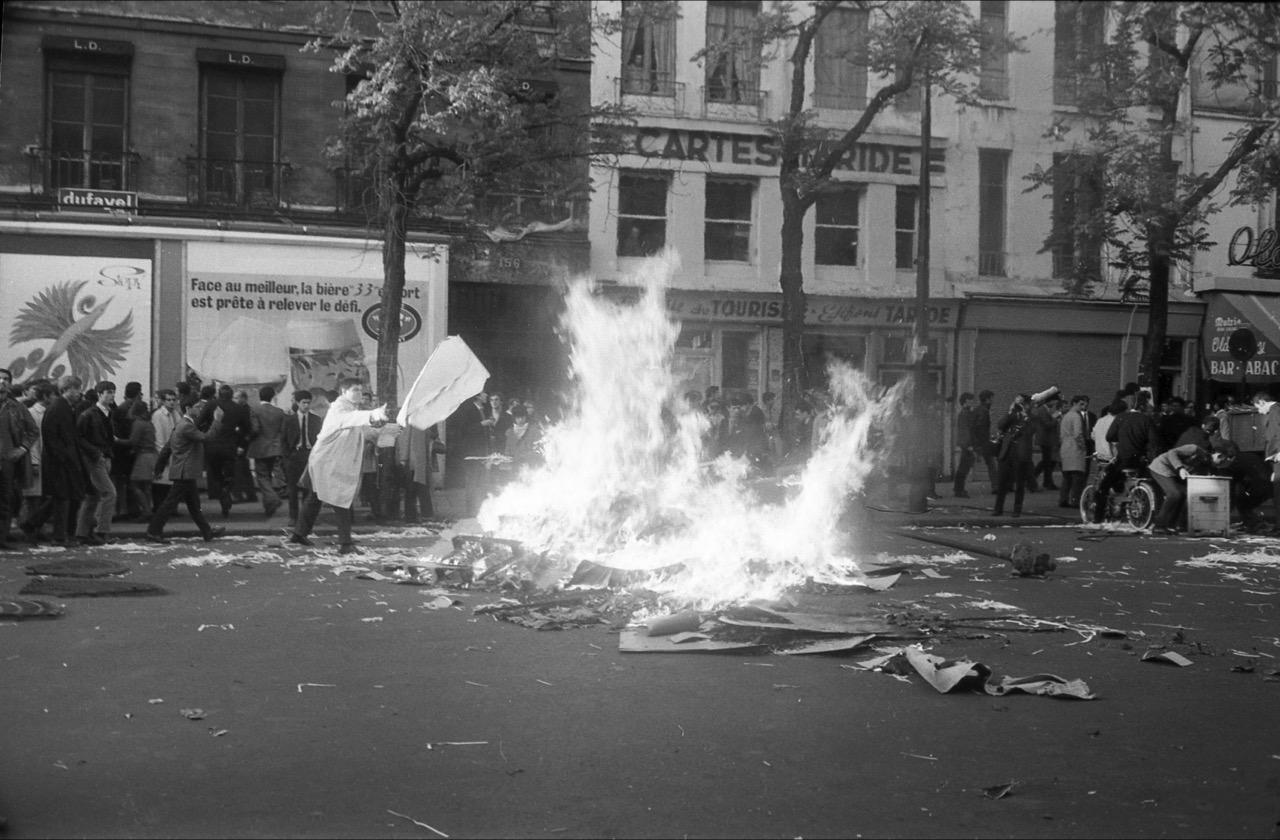 Philippe Gras,  Boulevard Saint-Germain all'altezza di rue de Seine , 1968