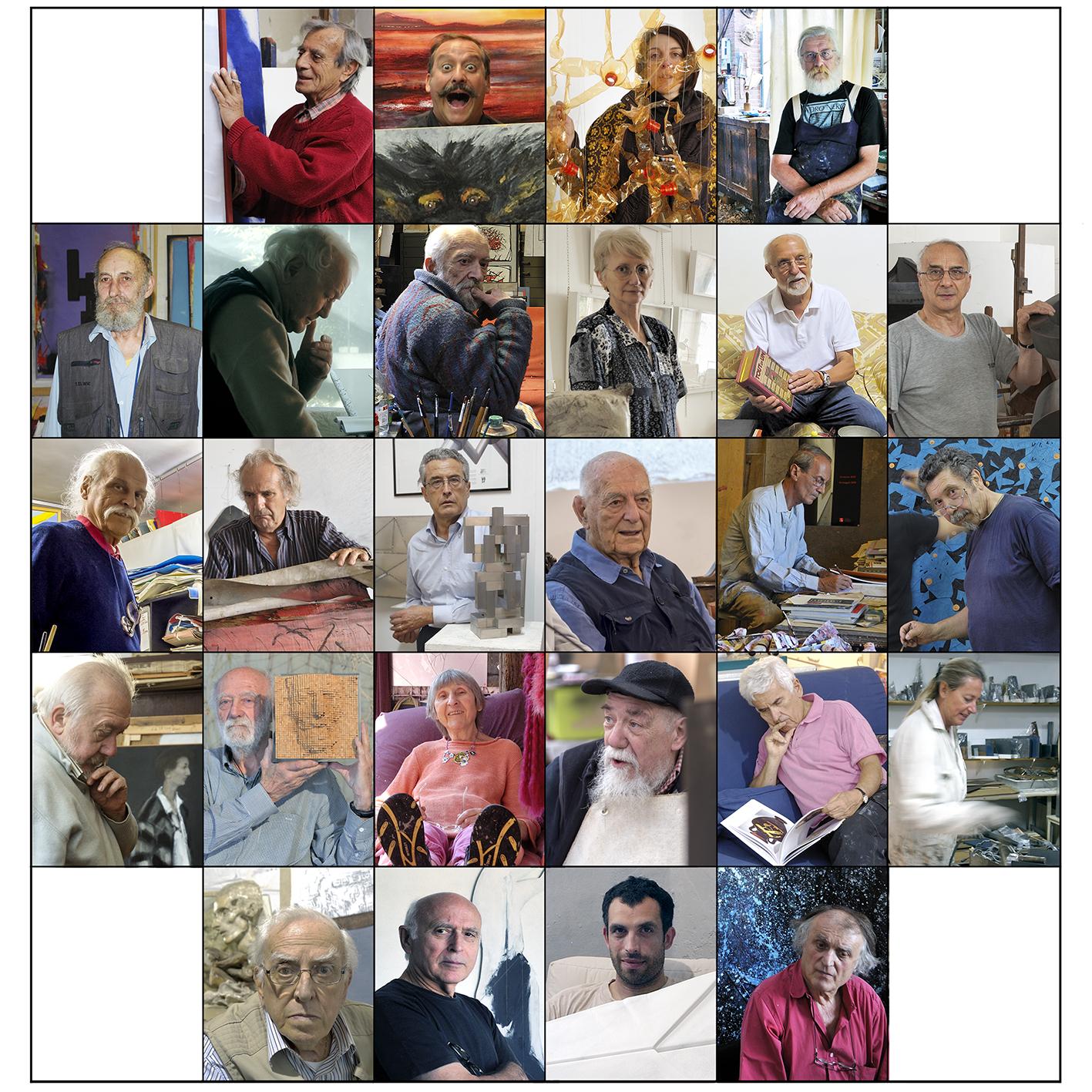 Un viaggio per immagini in 26 ateliers di artisti piemontesi, 2009/2019