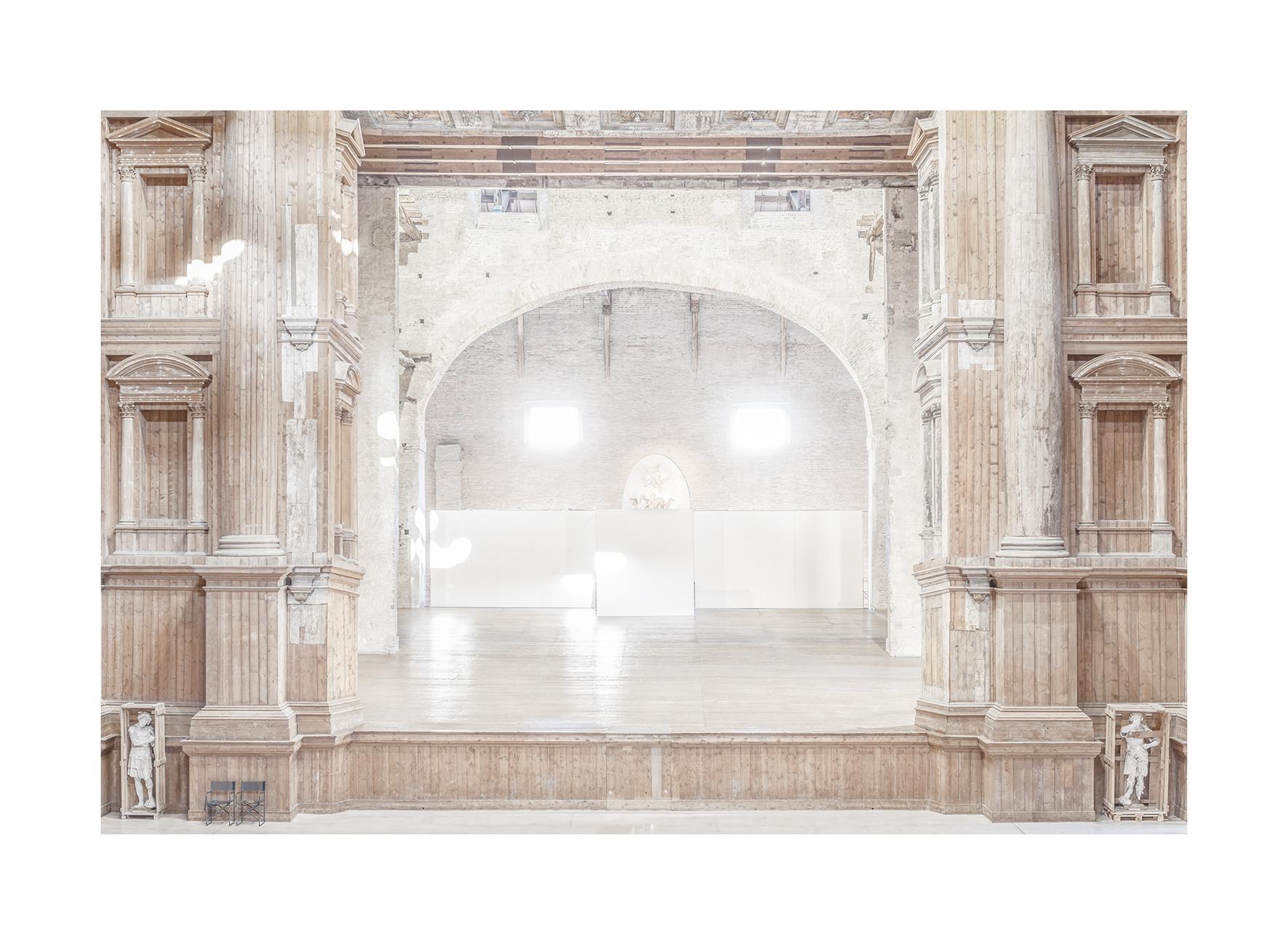 Patrizia Mussa,  Teatro Farnese , 2018, archival pigment print on cotton paper, hand colored, 130 x 100 cm, courtesy Patrizia Mussa