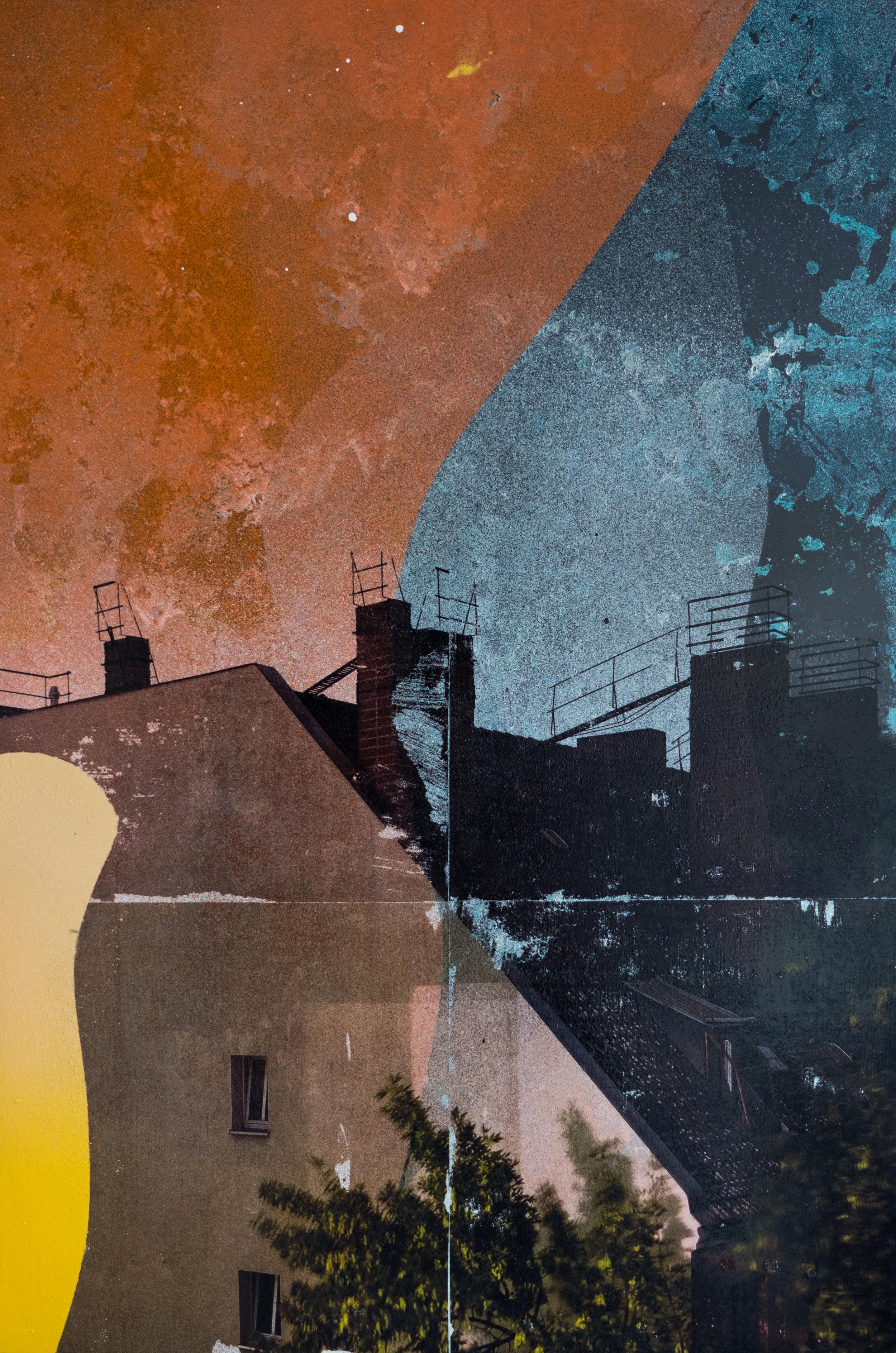 Livio Ninni,  Night Session , 2019, fotografia e spray su ferro, 40 x 60 cm, courtesy: Livio Ninni