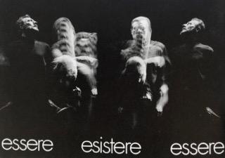 Arrigo Lora Totino,  Essere Esistere essere , 1976, fotodinamica, 18 x 24 cm, courtesy galleria Roccatre