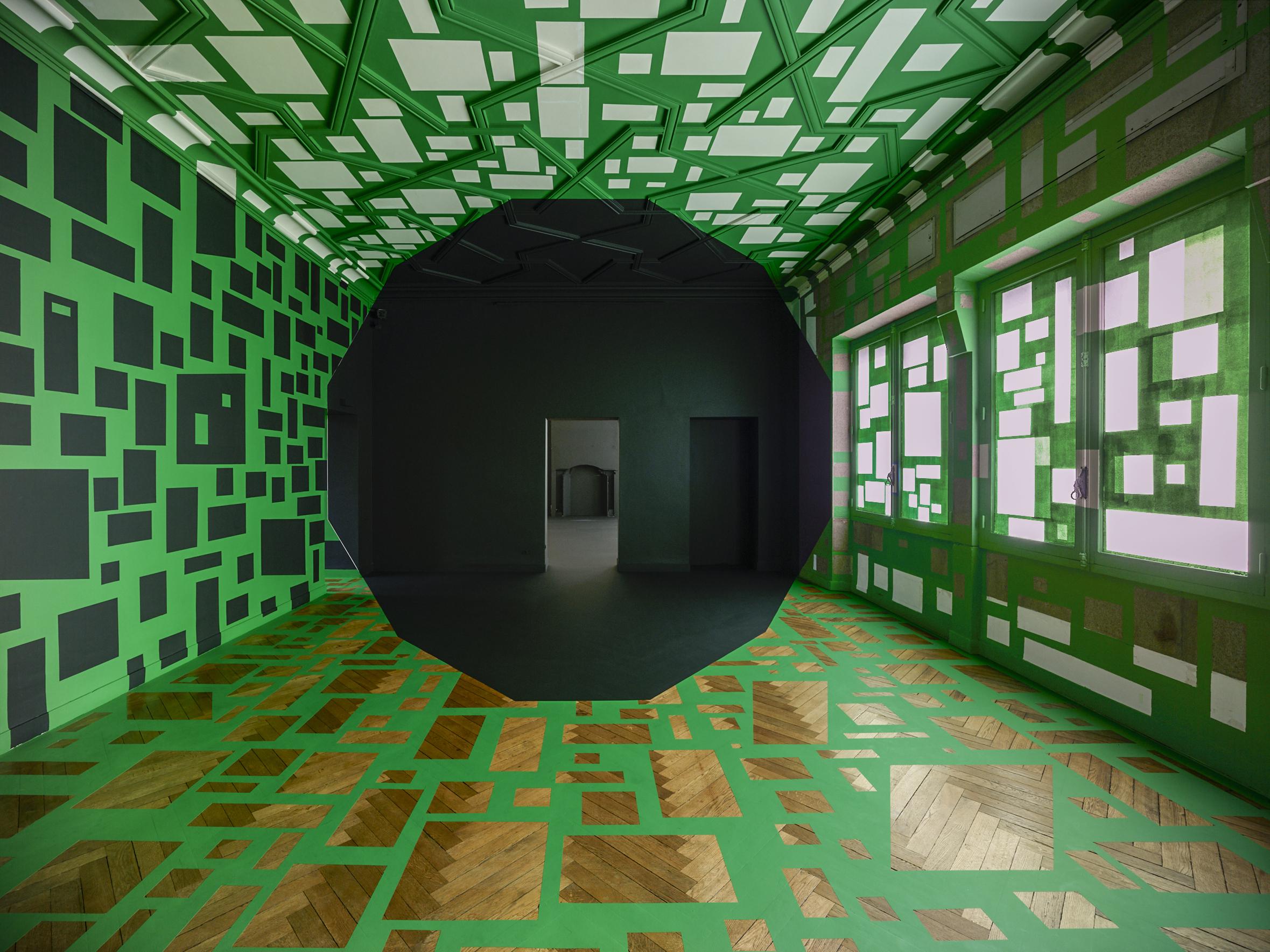 Georges Rousse,  Nantes 2018 , 2018, stampa fotografica ai pigmenti su carta Hahnemuhle, 110 x 140 cm, courtesy Photo&Contemporary, Torino