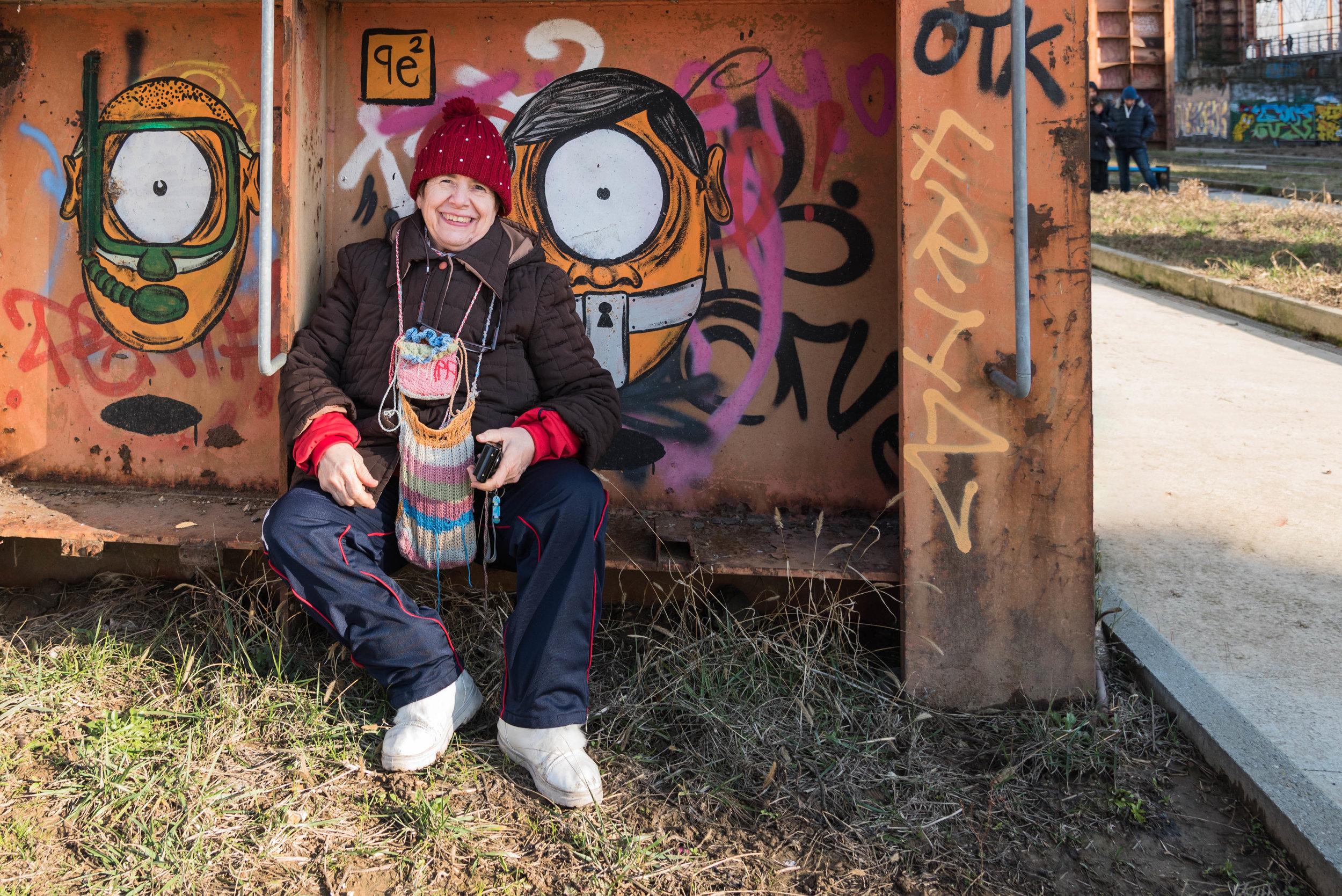 Gabriella Fileppo,  GraffitiTryTram 1 , 2017, fotografia digitale, 70 x 100 cm, stampa digitale su carta usomano 300 gr, courtesy Gabriella Fileppo / Cooperativa animazione Valdocco
