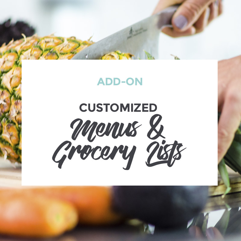 Add-on Customized Menus and Grocery Lists