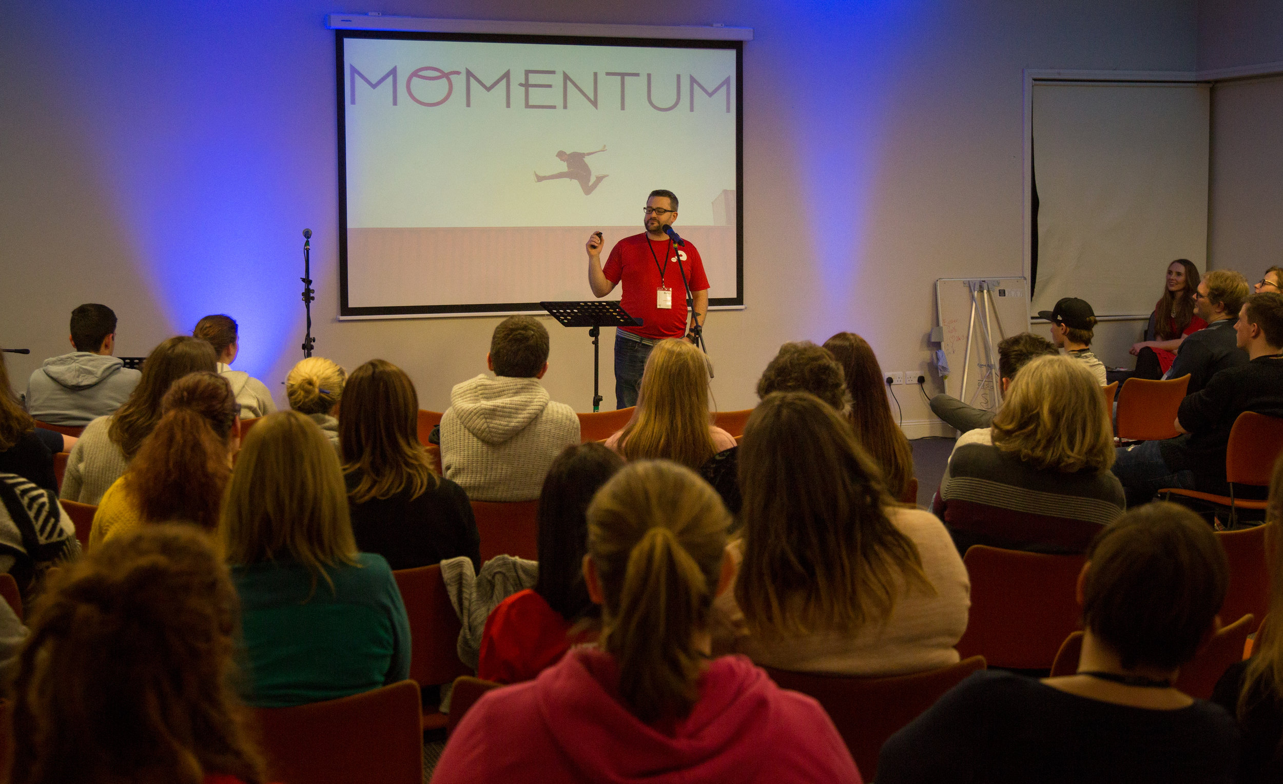 Peter Rigney talking at Momentum.