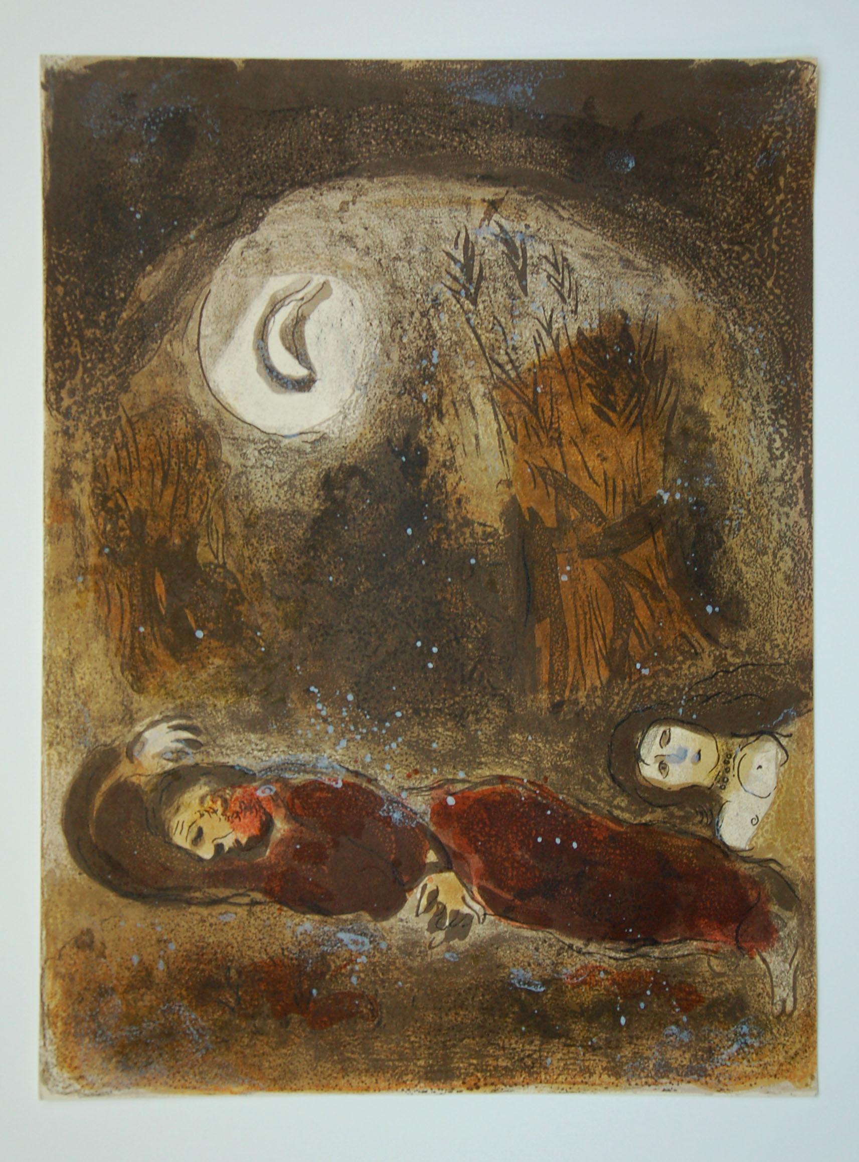28. Chagall, Ruth at the feet of Boaz 1960 copy.JPG