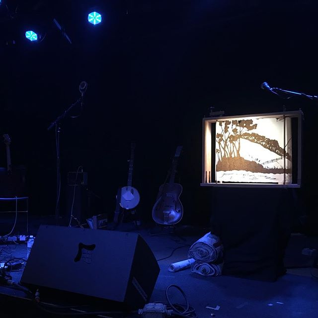 All set up for tonight @jamminjava with @muchgrey