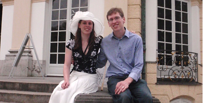 Rowena and Guy, back when they started volunteering with OxFizz