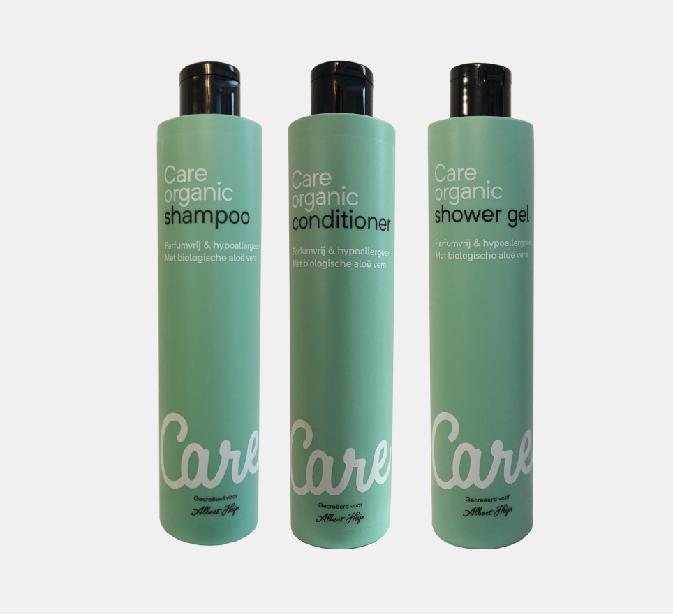 Organic care shampoo, conditioner og shower gel.png