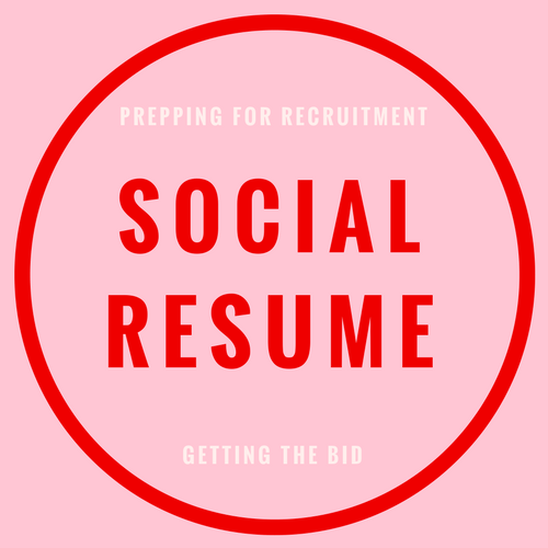 Social resume blog post