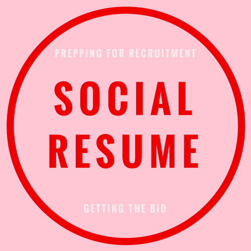 social resume for sorority recruitment