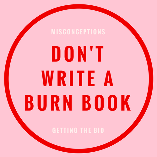 don't write a burn book blog post