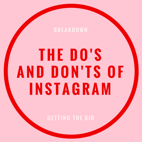The do's and don't of instagram blog post