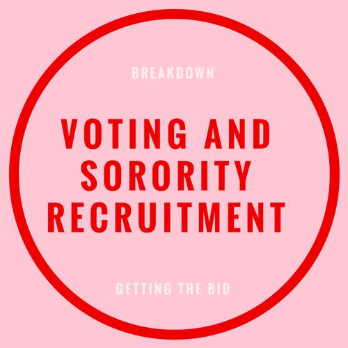 voting and sorority recruitment blog post