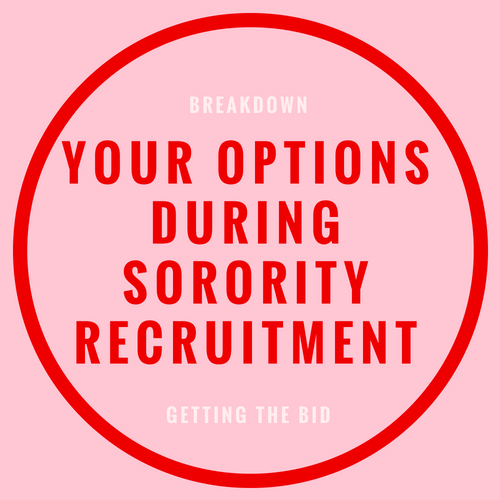 your options during sorority recruitment blog post
