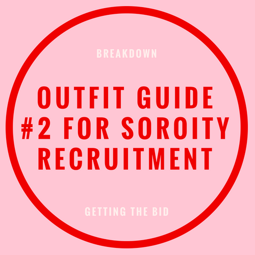 outfit guide for sorority recruitment blog post
