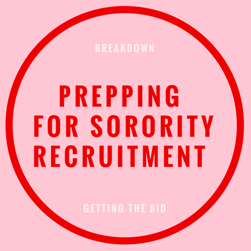 prepping for sorority recruitment blog post