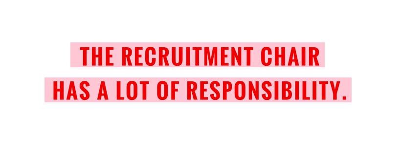 Recruitment chair