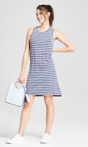 This dress is too casual for sorority recruitment.