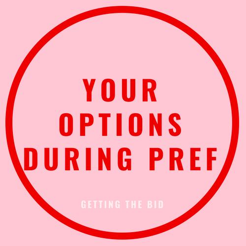your options during pref blog post