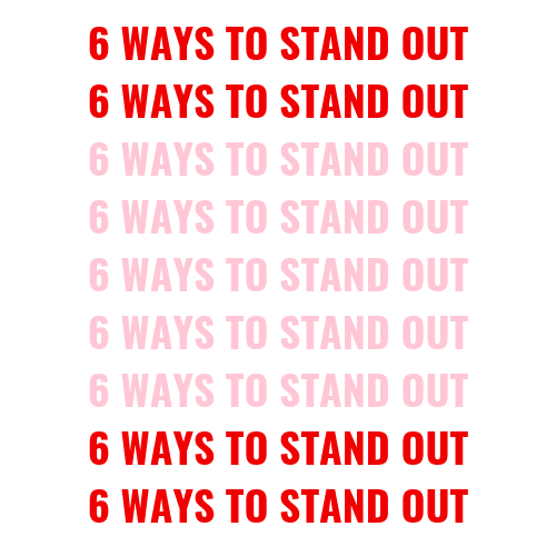 6 ways to stand out during pref blog post