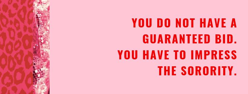 you are never guaranteed a bid