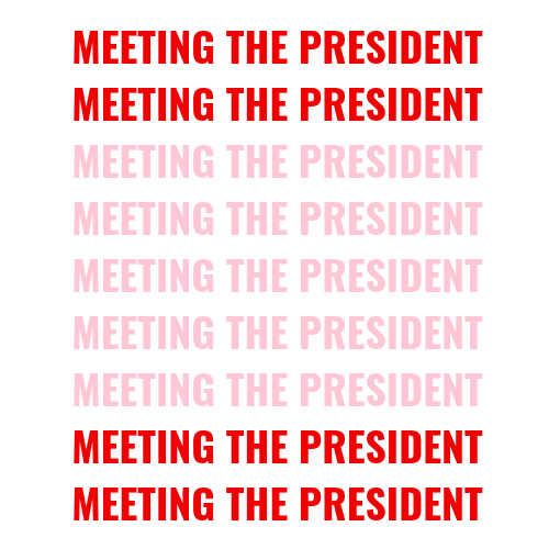 what does it mean if you meet the president blog post