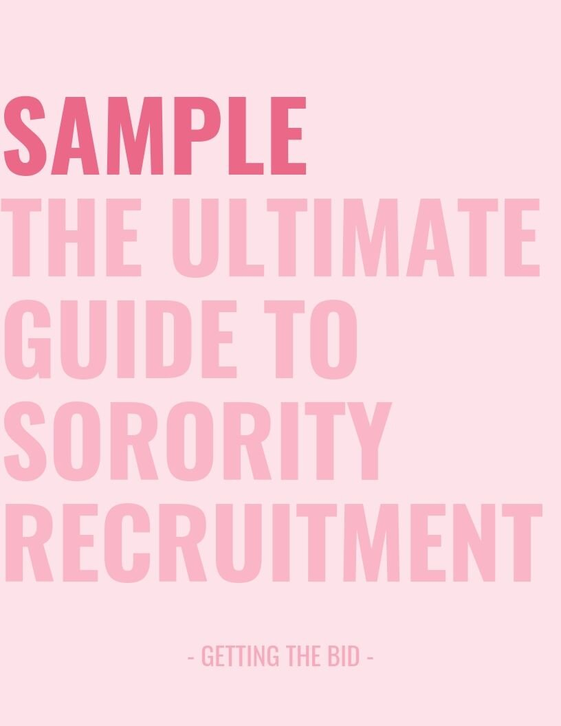 sample for the ultimate guide to sorority recruitment